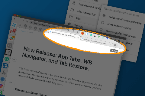 Speed up your workflows with App Tabs