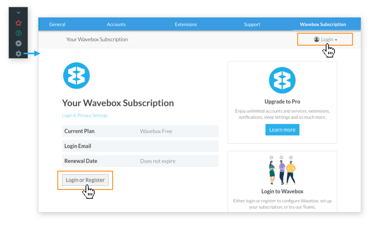 Wavebox - How to Login and Logout of Wavebox