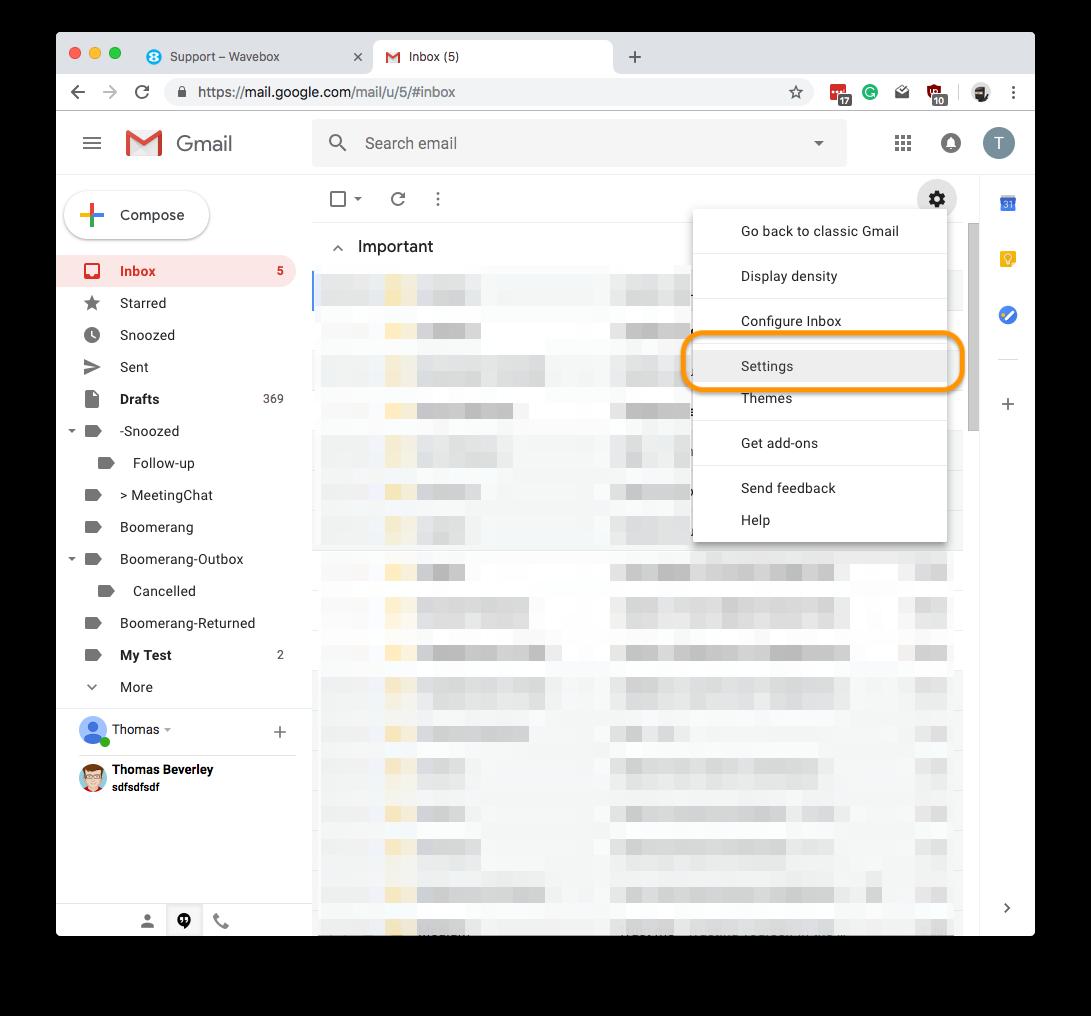 Wavebox - Google Unread Counts