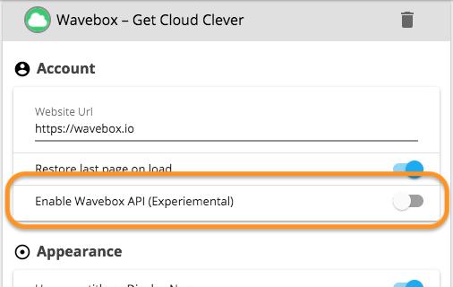 Wavebox - Guest JavaScript API